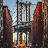 Dumbo, Brooklyn. Photo via @mc_gutty #viewingnyc #newyork #newyorkcity #nyc #manhattanbridge #empirestatebuilding