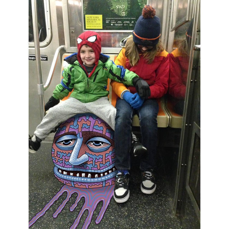 #subwaydoodle #subway #doodle #swd #nyc #bighead #melting #wtf