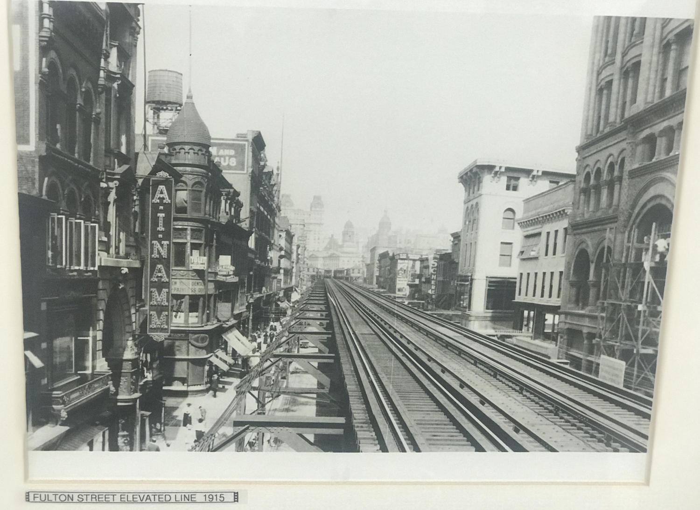 Fulton Street Elevated Line, Fulton St & Hoyt St, Downtown Brooklyn, 1915