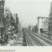 Fulton Street Elevated Line, Fulton St & Hoyt St, Downtown Brooklyn, 1915