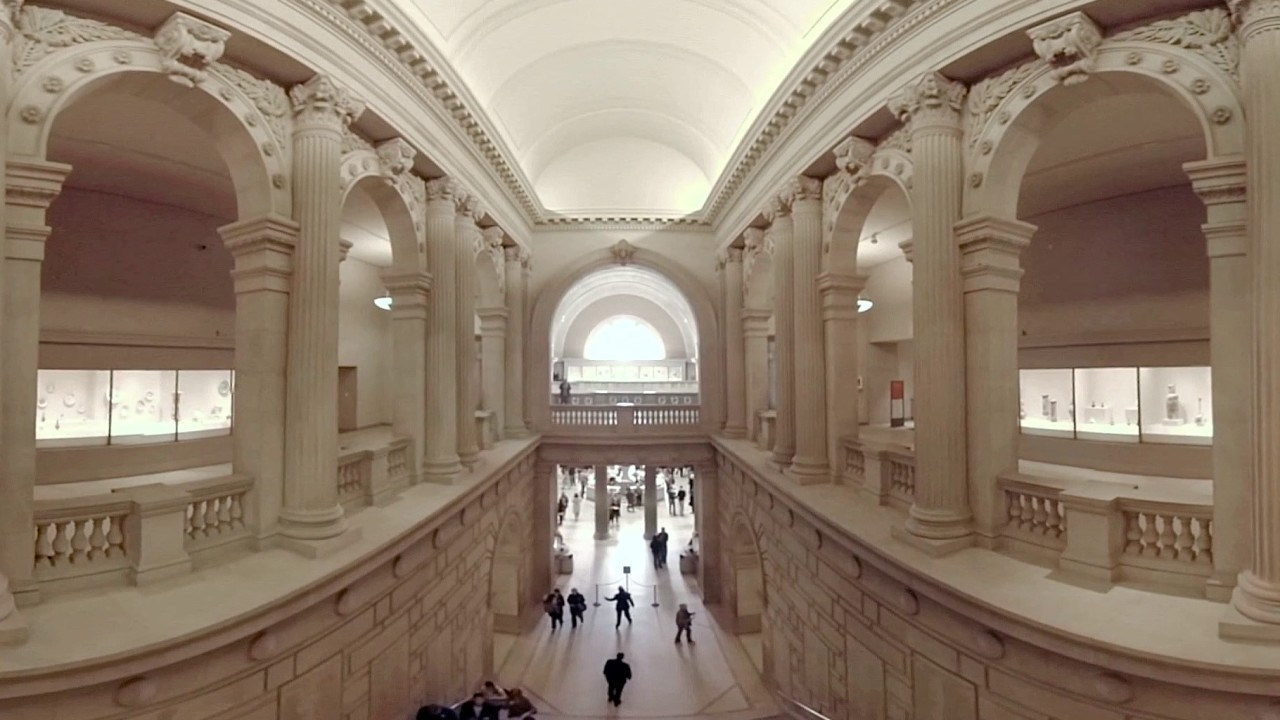 Watch 360 video shows the great hall inside the for The metropolitan museum of art nyc