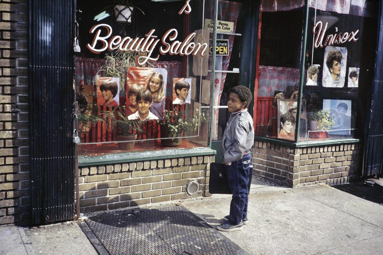 Unisex Beauty Salon, Bushwick, Brooklyn, NY, 1984.