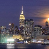 Moonrise over Chelsea, Manhattan and the Hudson River