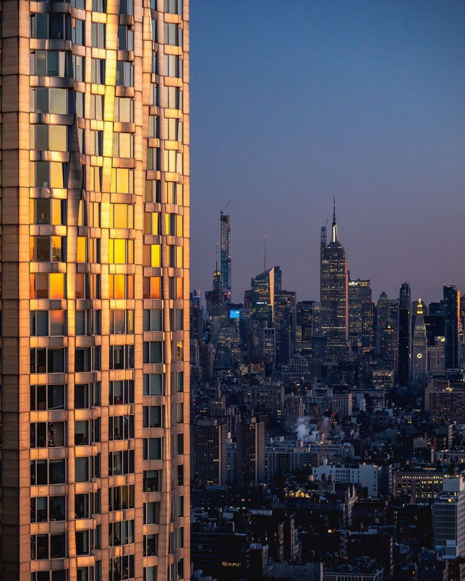 New York by Gehry, as seen from 130 Williams