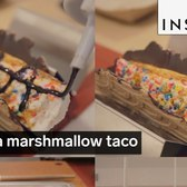 This is a marshmallow taco