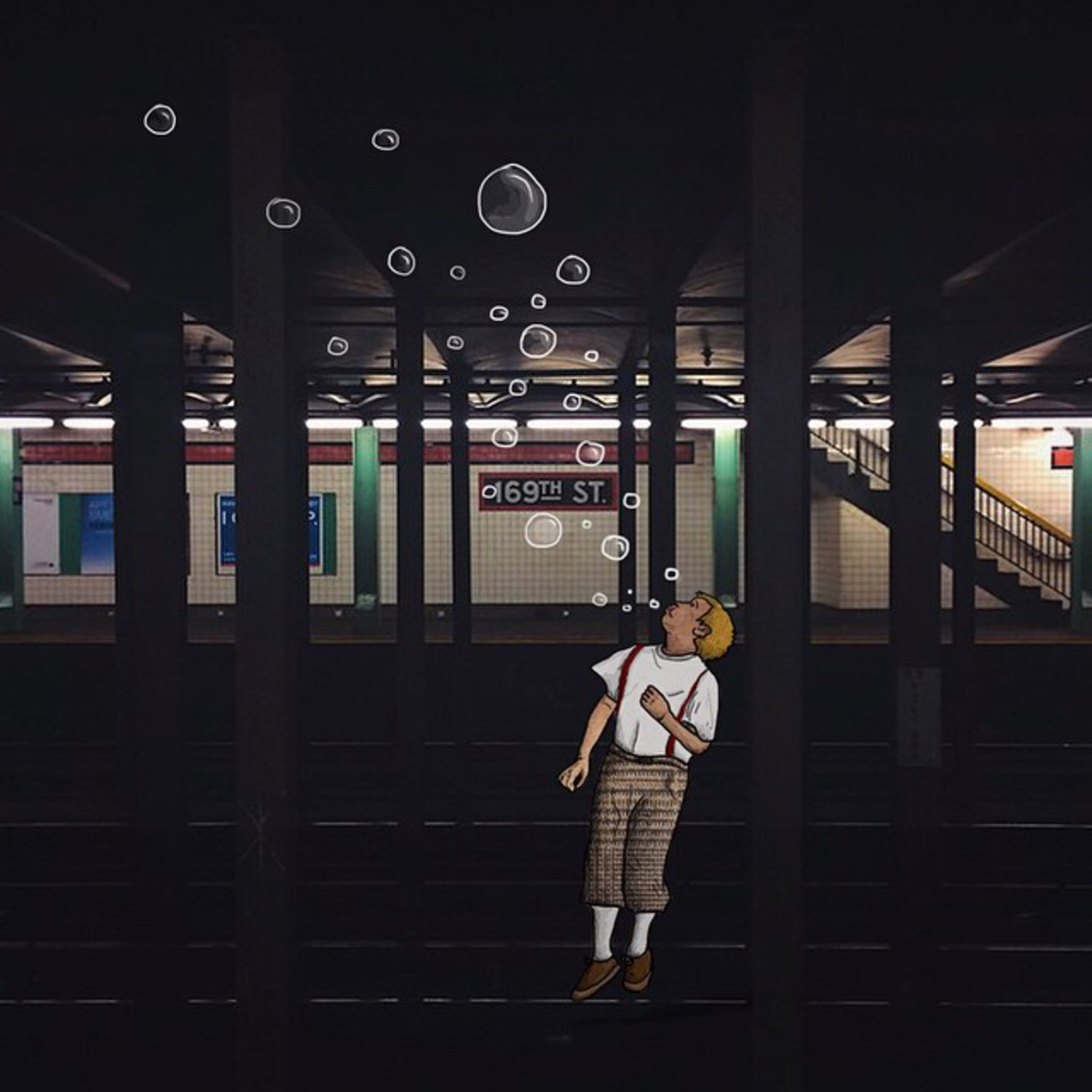 Bubble show on 169th street  The subway shot by who else than @underground_nyc check this fella !
