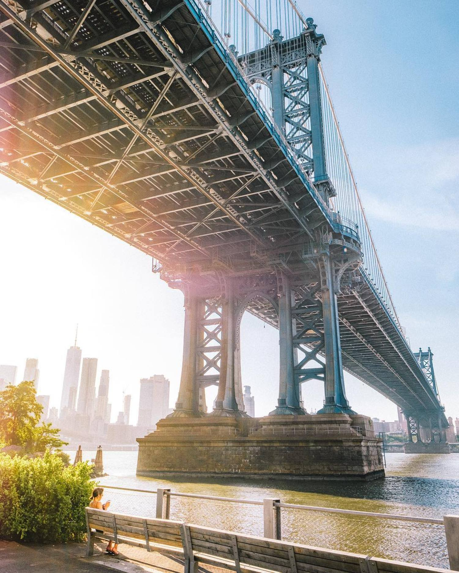 """Soaking up the sun in Dumbo"""