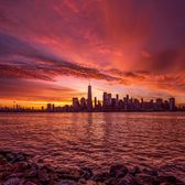 Sunrise Over Manhattan From Liberty State Park