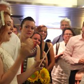Unauthorized Run 'N Gun NYC Wedding (Staten Island Ferry + Subway)