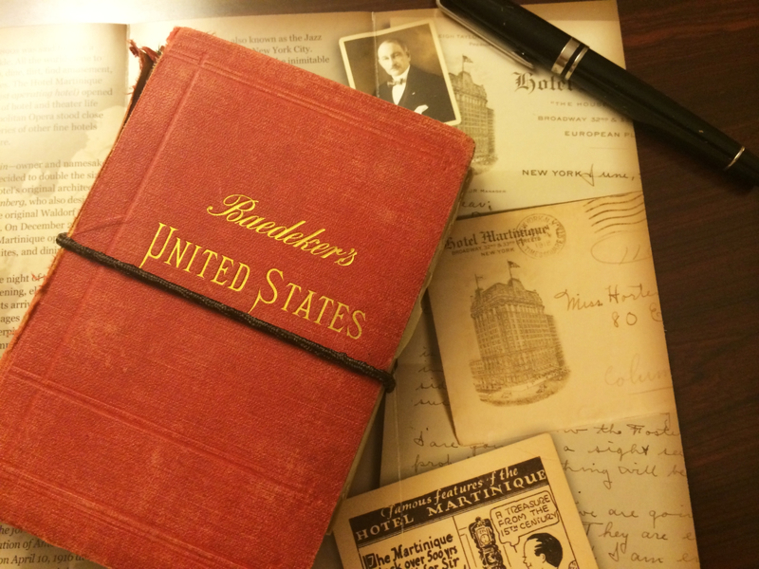 Luke Spencer's Baedeker's United States Guide, at the Hotel Martinique, which opened in 1897.
