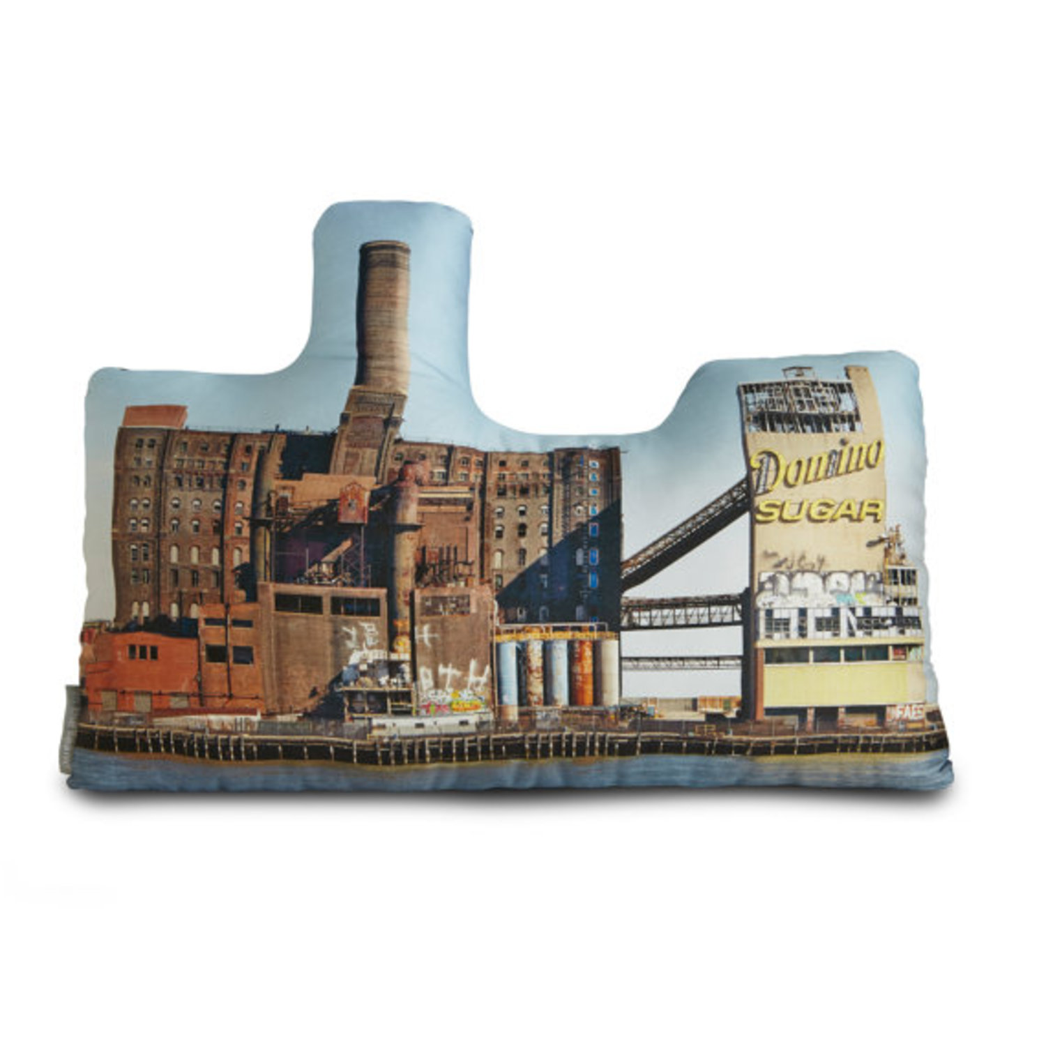 Domino Sugar Refinery Printed Pillow