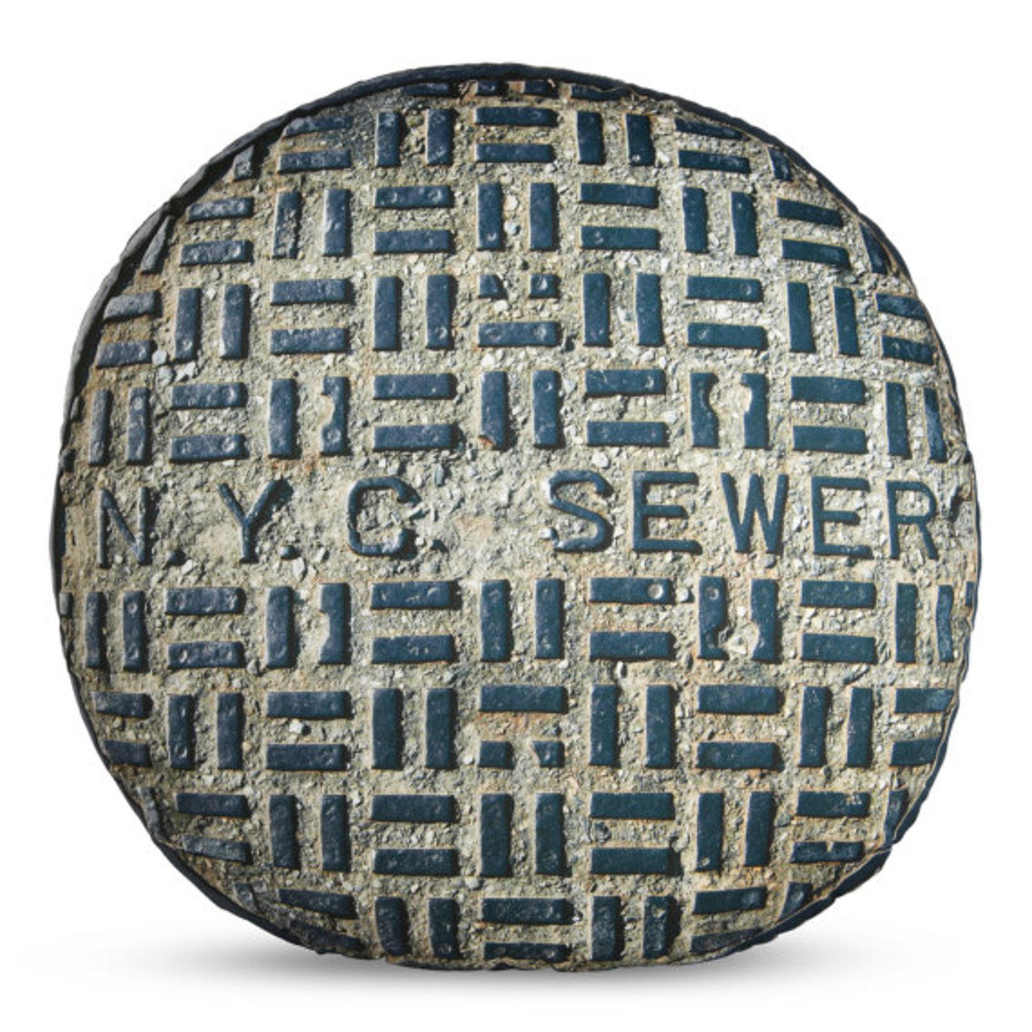 NYC Sewer Printed Pillow LARGE