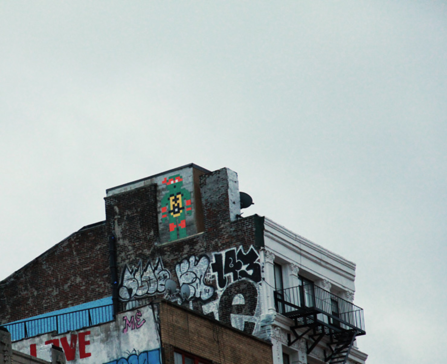 Invader Ninja. The L.I.S.A. Project. Manhattan, NYC.