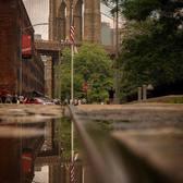 Brooklyn Bridge, Dumbo, Brooklyn. Photo via @zura.nyc #viewingnyc #newyork #newyorkcity #nyc #rain #brooklynbridge