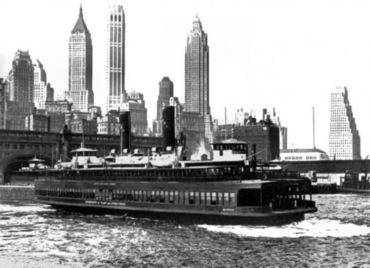 The Staten Island ferryboat 'Queens.'