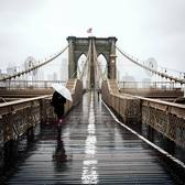Brooklyn Bridge, New York. Photo via @m_bautista330 #viewingnyc #newyork #newyorkcity #nyc #brooklynbridge #rain