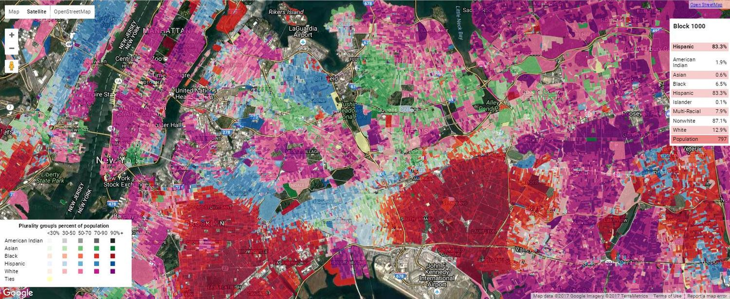 Queens Ethnic Density Map