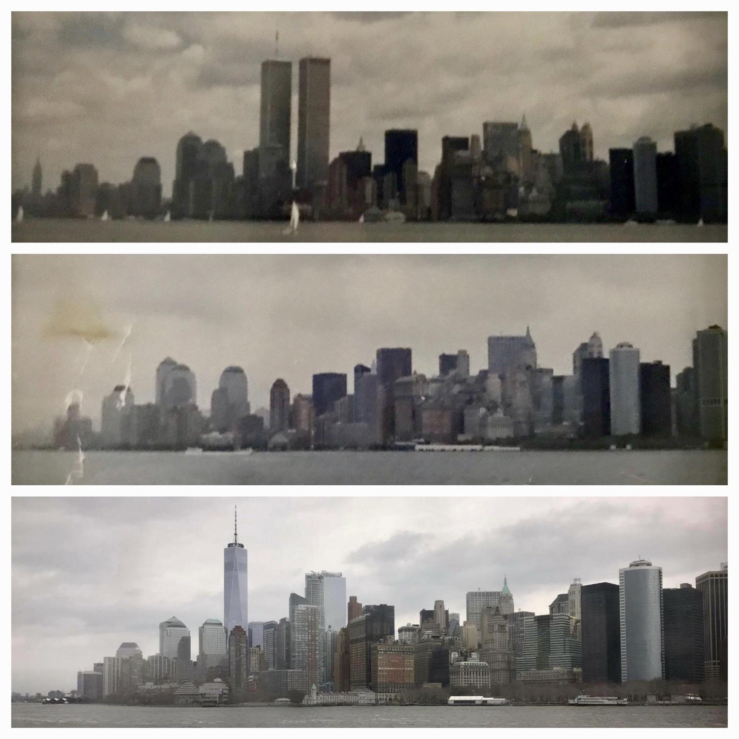 NYC from Staten Island Ferry - 1997 - 2002 - 2018