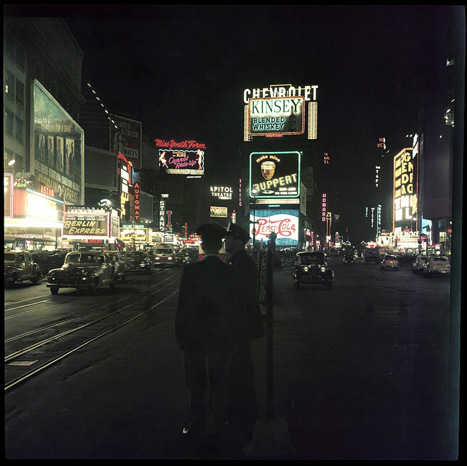Times Square at Night, circa 1948