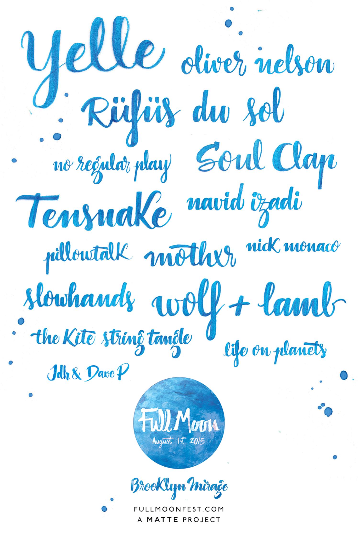 Full Moon Fest 2015 Lineup