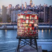 Tom Fruin's Dumbo Watertower, Brooklyn.