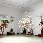 Meditation Class in an Art Gallery