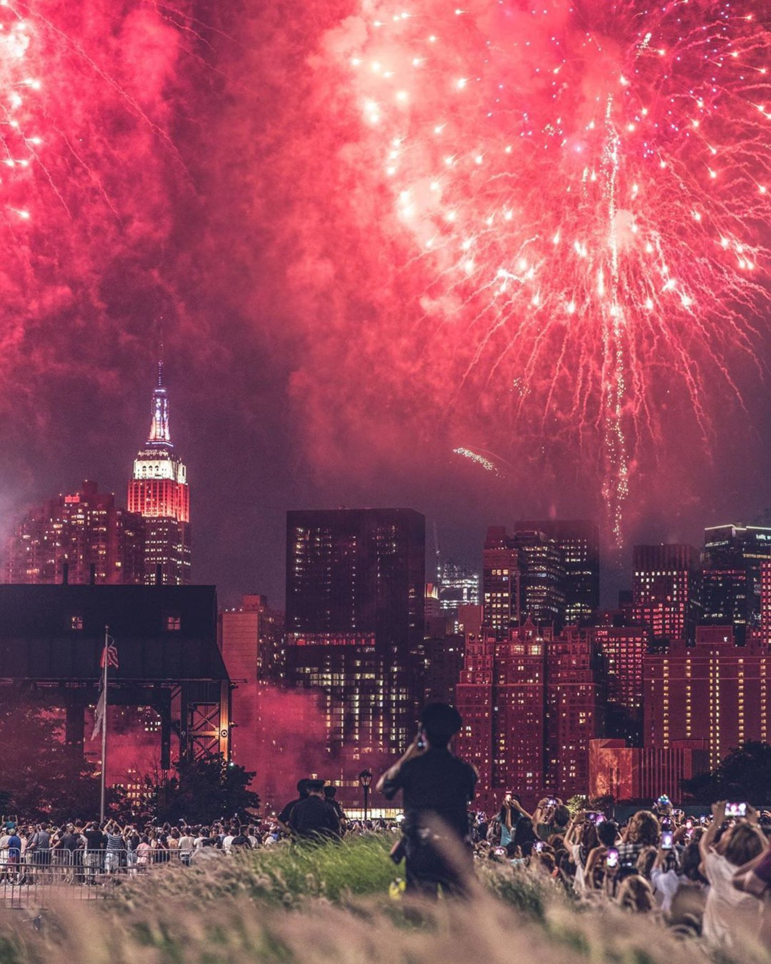 Last years view from Queens. Happy 4th. #newyorkcity