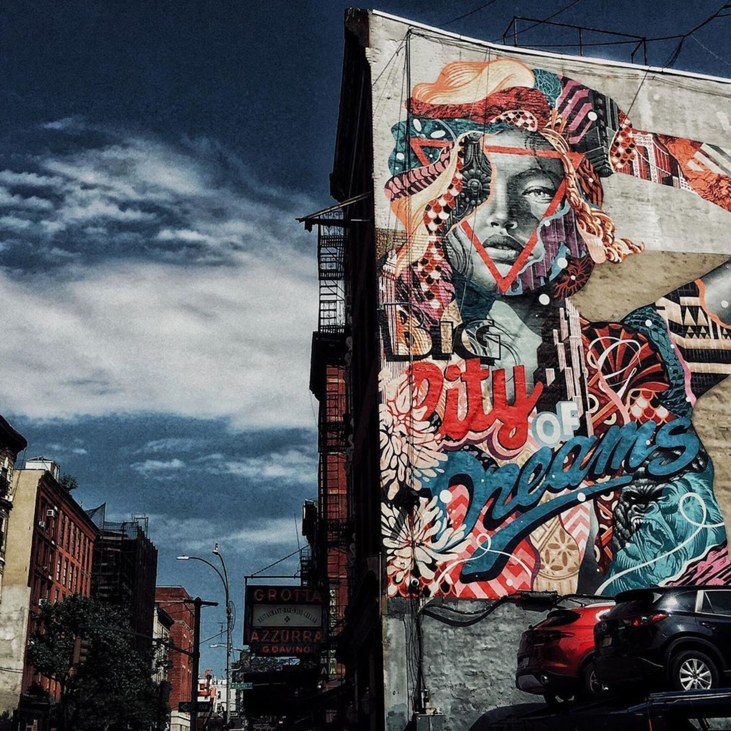 Tristan Eaton Mural in Little Italy, Manhattan