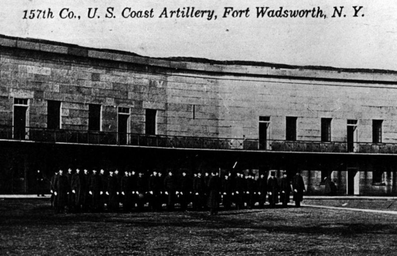 157th U.S. Coast Artillery. Postcard of Fort Wadsworth circa 1902.