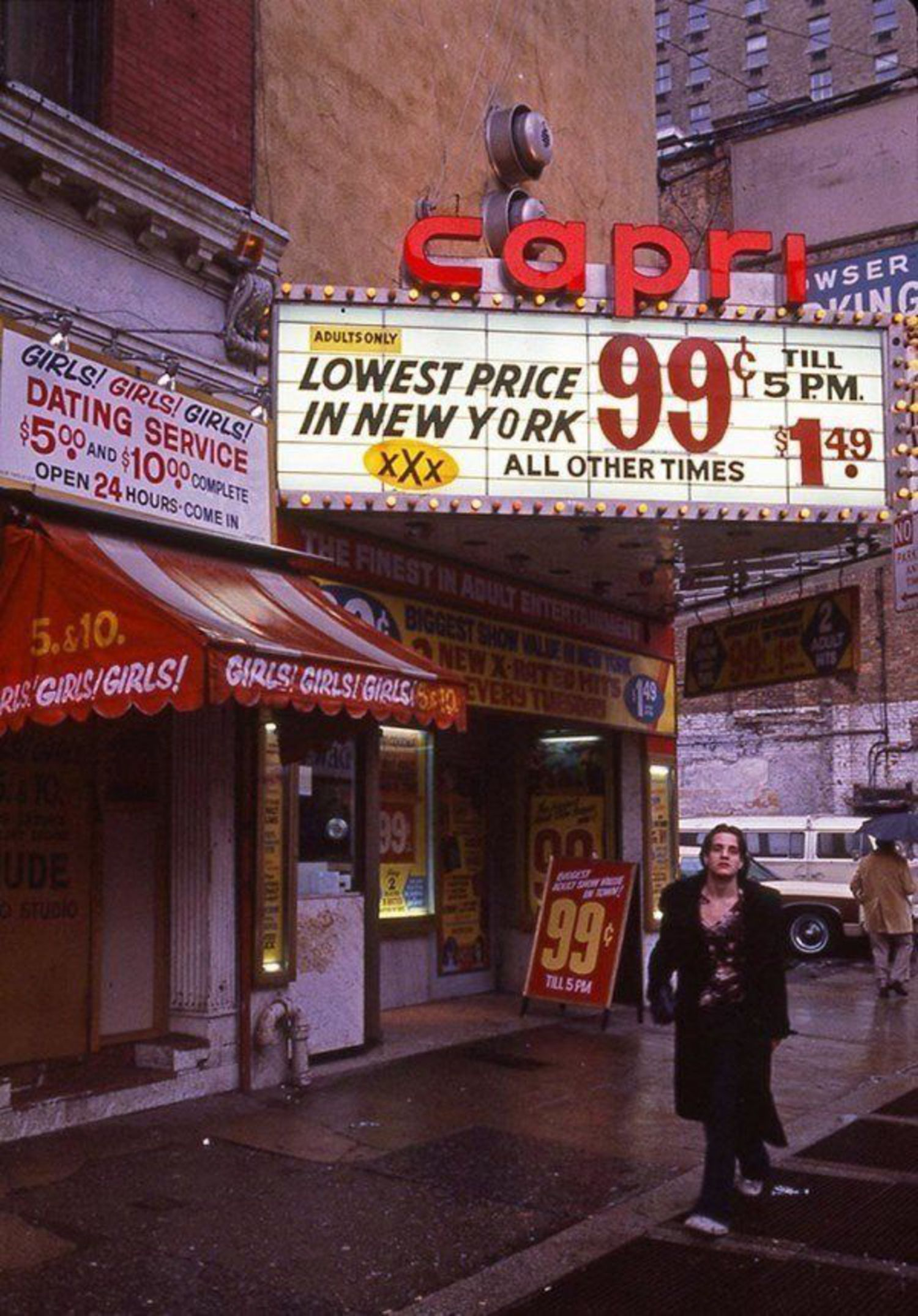 "By the late 1970s, adult stores and theaters dominated Times Square, with Rolling Stone referring to it as the ""sleaziest block in America"" in 1981."