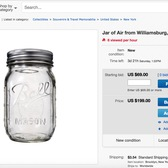 Jar of Air from Williamsburg, Brooklyn