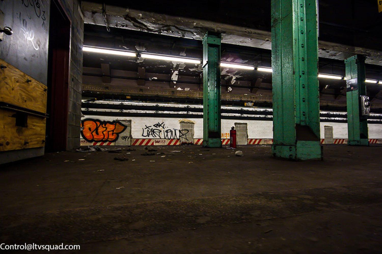 The abandoned Canal Street J/M/Z platform