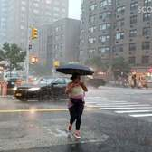 Nearly 3 inches of rain fell in Manhattan before 9 AM this morning.-pkos7mobaif11