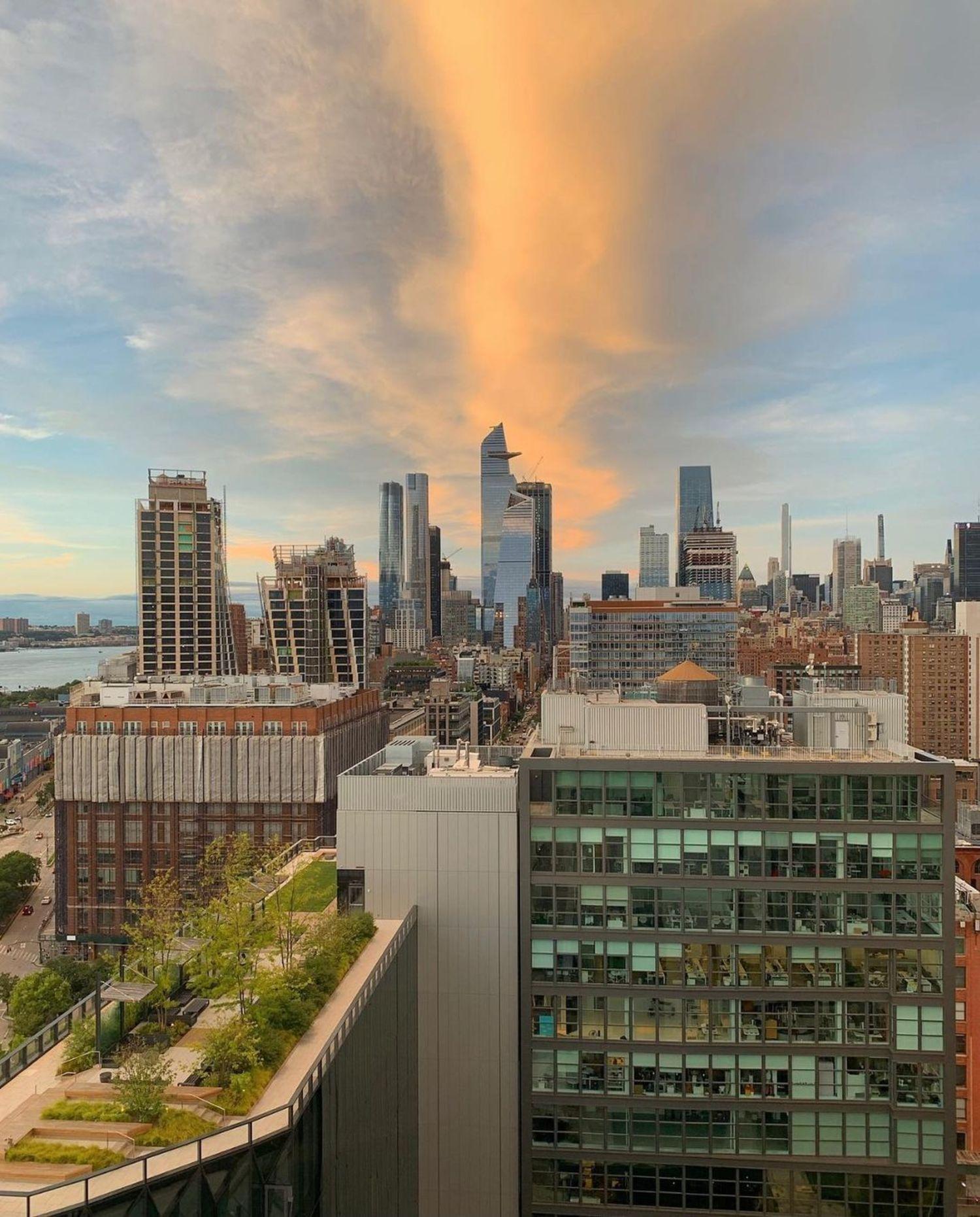 Sunset over Chelsea, Manhattan