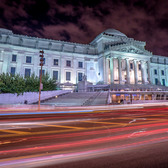 Brooklyn Museum at Night | Testing the wide angle converter for the 16mm E-mount lens which I got at a great deal.