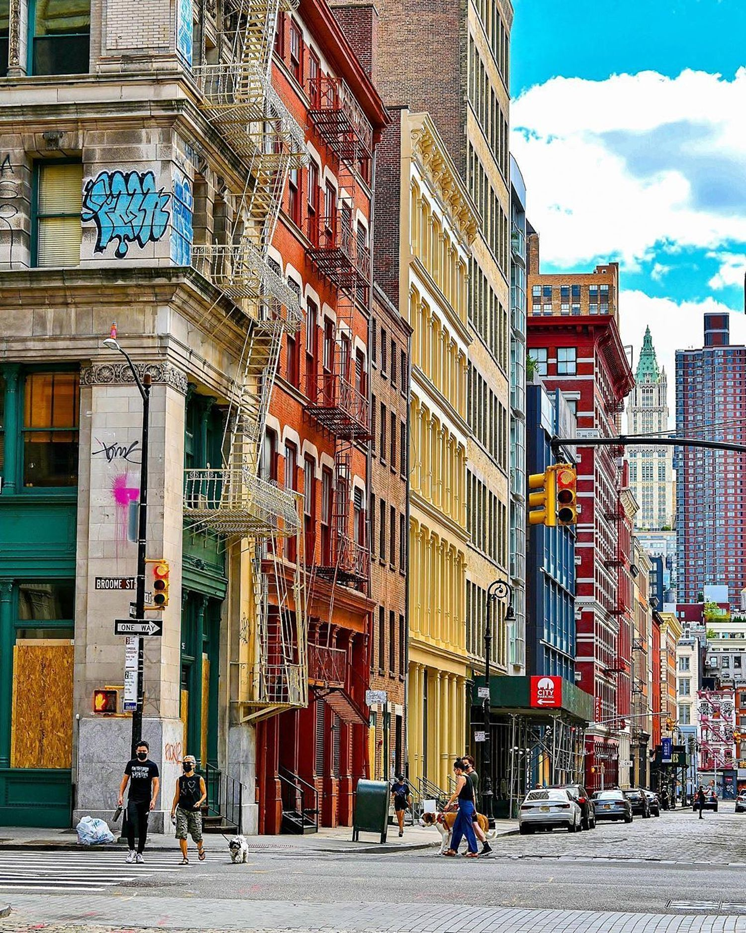 Broome Street and Mercer Street, SoHo, Manhattan