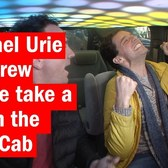 Michael Urie and Drew Droege take a ride in the Cash Cab
