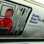 "@notorious_t_0_m saw our work on the subway and advised ""stop the spread of trump!"" @realdonaldtrump #SubwayTrumpStickers #streetart #donaldtrump #nyc #makeamericagreatagain #gofuckyourself"