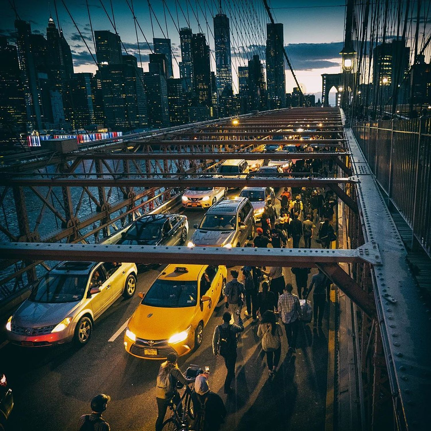 Protests on Brooklyn Bridge