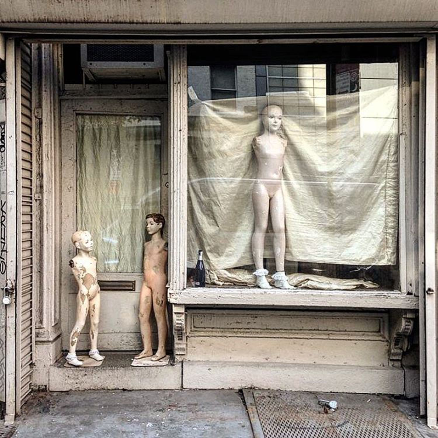 The family are in their new home.  #theinutiliousretailer #retaildesign #mannequin #newyork #lowereastside