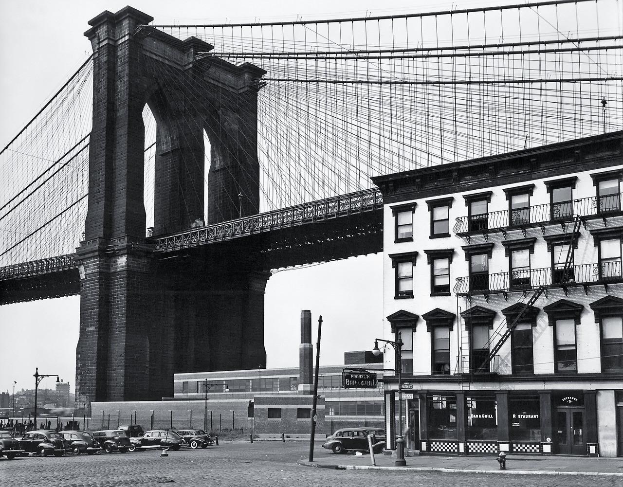 Vintage Photograph Under the Brooklyn Bridge Circa 1946 ...