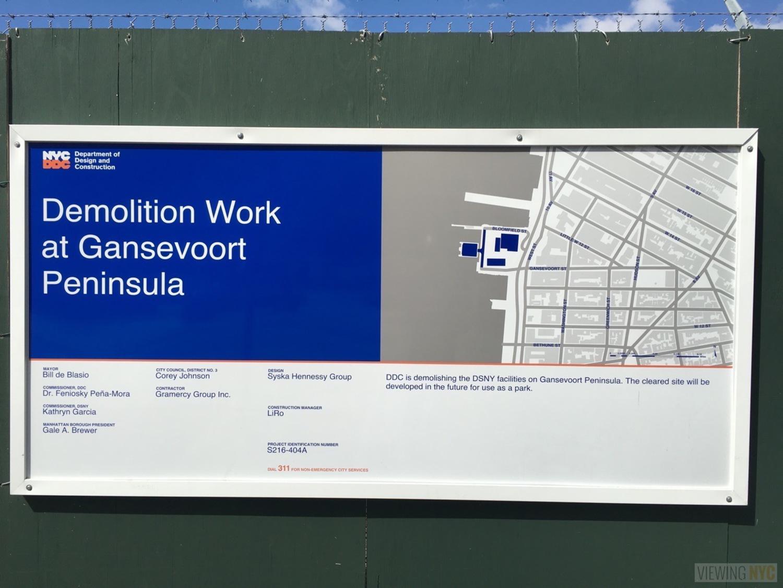 Hudson River Park Demolition Plan on Gansevoort Peninula