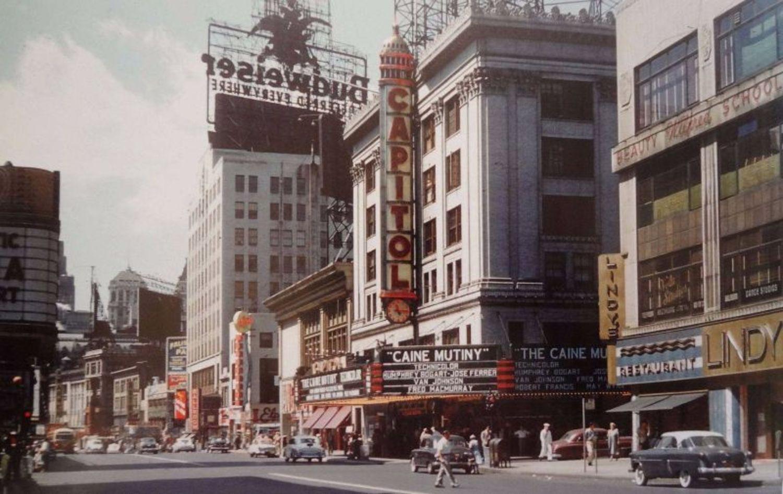 Broadway & 51st Street, 1954
