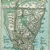 Nieuw Amsterdam in 1662, illustrated in 1942