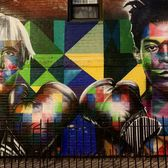 Williamsburg, Brooklyn. Mural by Eduardo Kobra @kobrastreetart