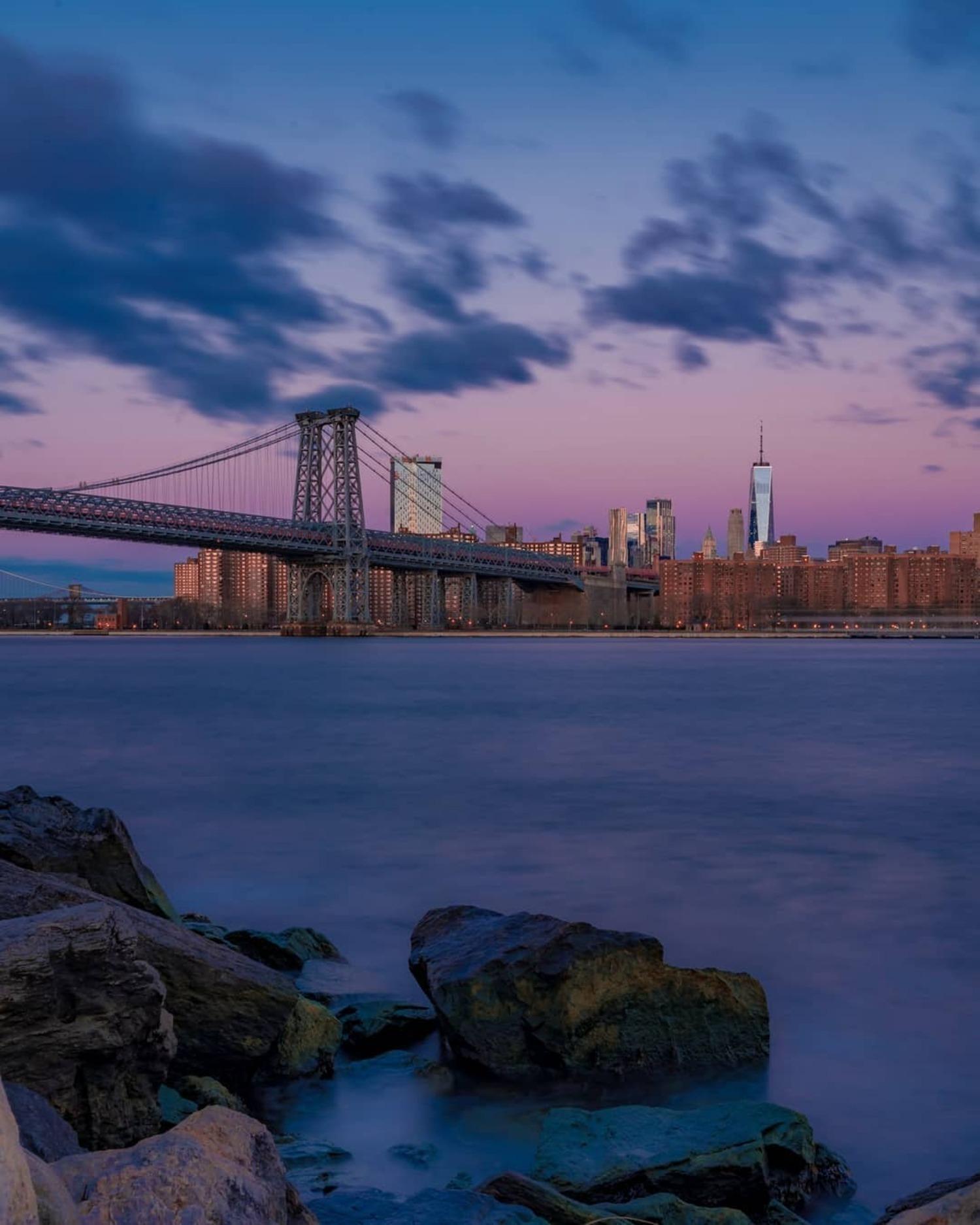 Williamsburg Bridge from Grand Ferry Park, Brooklyn