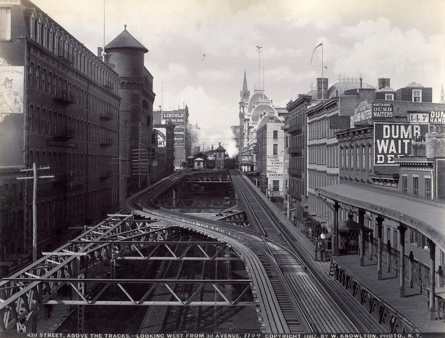 42nd Street, Above the Tracks, Looking West From 3rd Avenue, 1887