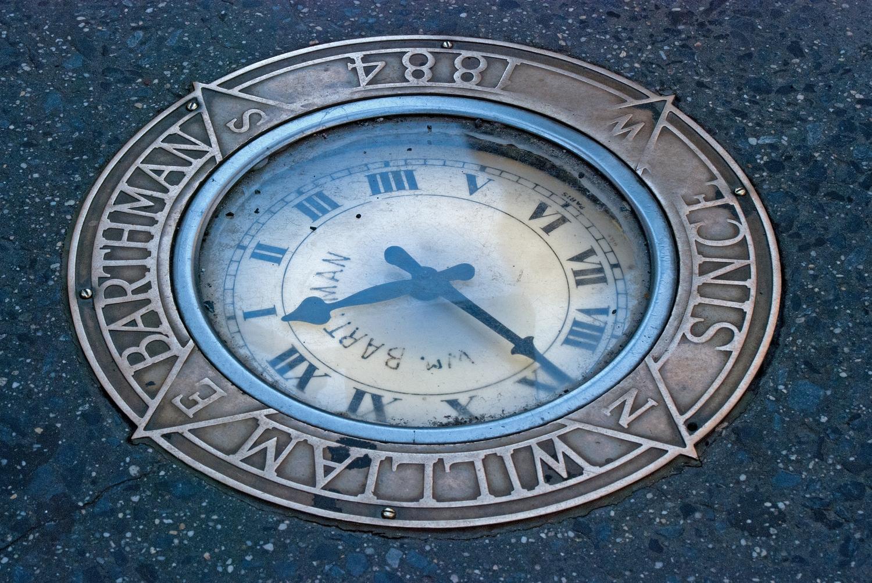 Barthman Sidewalk Clock, Maiden Lane and Broadway