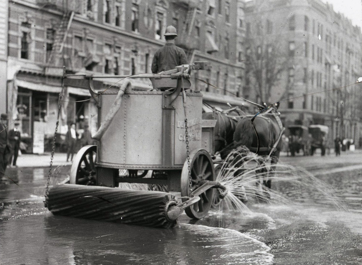 Check Out This Vintage Photograph Of A HorseDrawn Street Sweeper In - Nyc street sweeping map