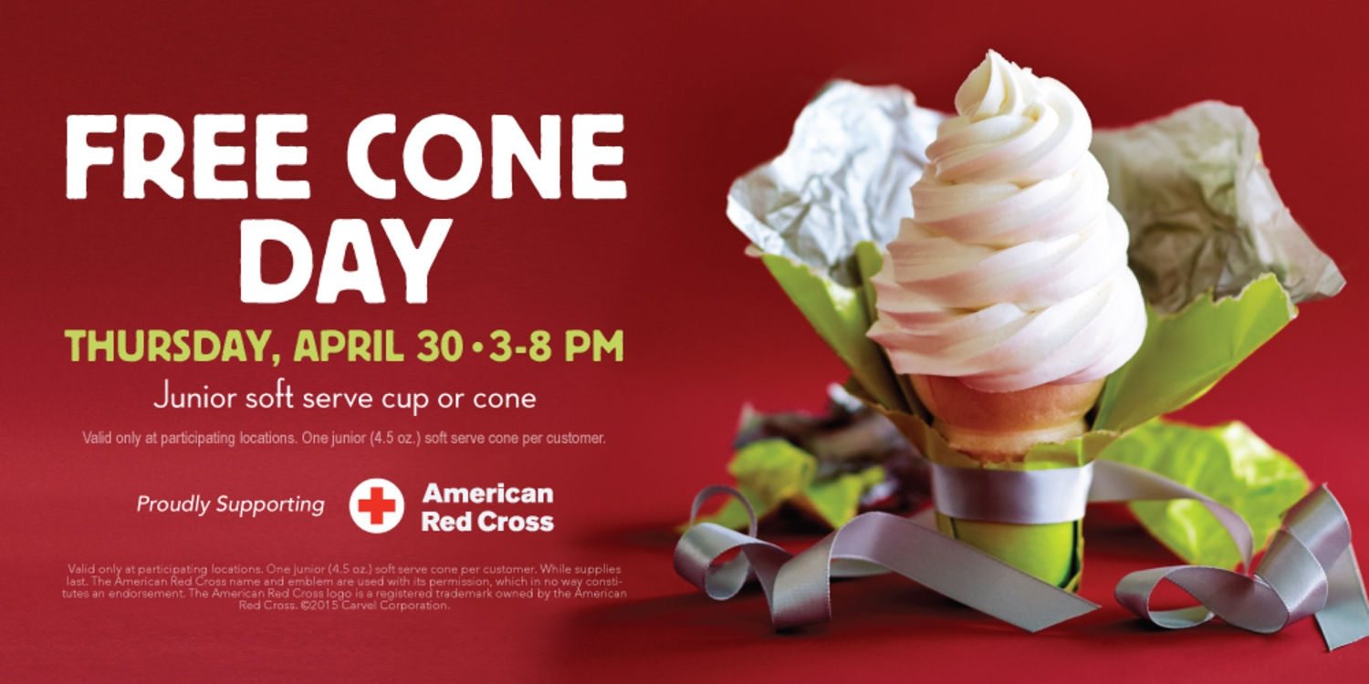 Carvel Celebrates Free Cone Day April 30